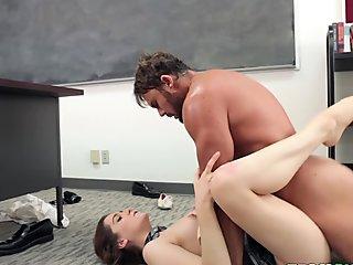 american, class, classroom, desk, natural tits